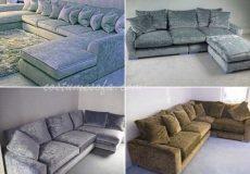 Sofa bahan Beludru
